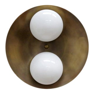 Gallery L7 Brass Flush Mount Light 'Binova' For Sale