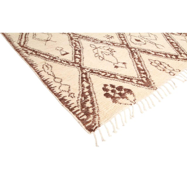 Color: Parchment - Made In Pakistan. 100% Wool. Inspired by the weavings of the Beni Ourain nomadic tribe in Morocco's...