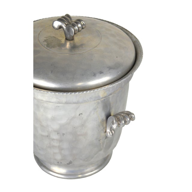 Vintage Hammered Aluminum Ice Bucket For Sale - Image 4 of 4