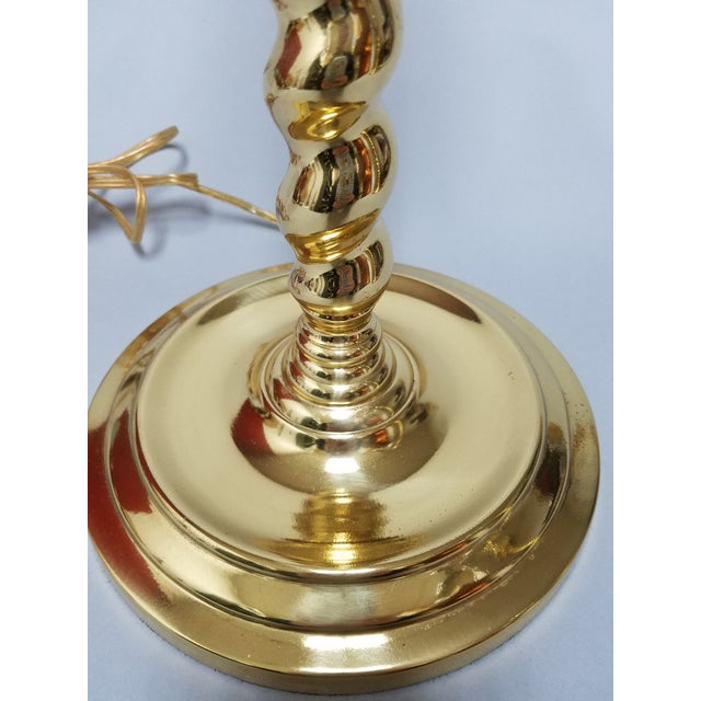 Chapman Manufacturing Company Chapman Brass Table Lamps - a Pair For Sale - Image 4 of 10
