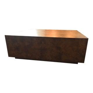 Mid-Century Burl Wood Cocktail Table