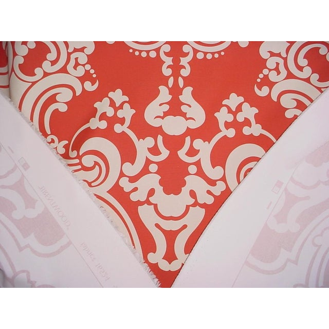 Scalamandre Scalamandre Brentwood Coral Sand French Damask Upholstery Fabric - 6 Yards For Sale - Image 4 of 5
