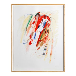 Mostly Mozart, Framed Abstract Screenprint by Peterson