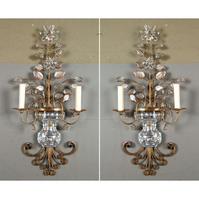 Bronze 1930s French Gilt Metal Sconces - a Pair For Sale - Image 8 of 8