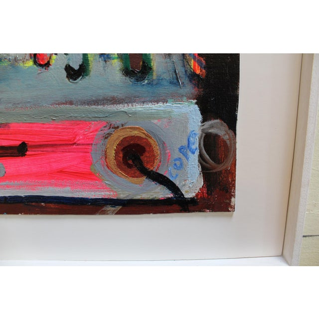"""Contemporary Modern Oil Painting by Irish Artist Elizabeth Cope """"Back of Bush Radio"""" For Sale - Image 3 of 3"""