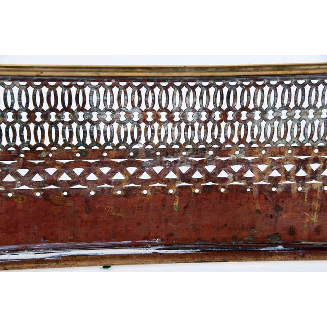 Victorian English Brass Fire Fender For Sale - Image 4 of 6