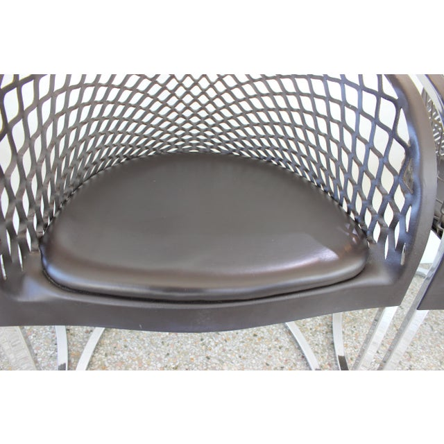 Vintage Mateograssi Dining Chairs in Leather & Chrome - Set of 6 For Sale - Image 11 of 13