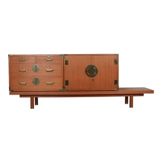 Campaign Style Modern Sideboard For Sale