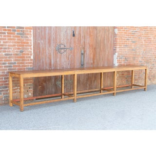 Very Long British Colonial Teak Console Table Preview