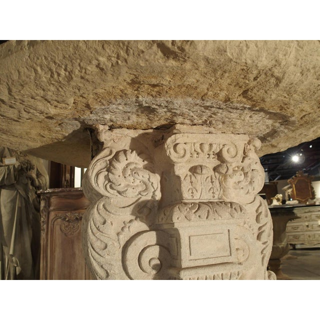 Rare Period Renaissance Carved Stone Table from the South of France, 1570 For Sale In Dallas - Image 6 of 10