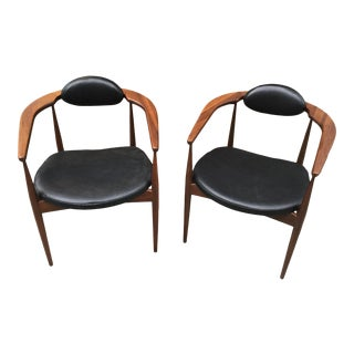 Adrian Pearsall Arm Chairs- A Pair For Sale