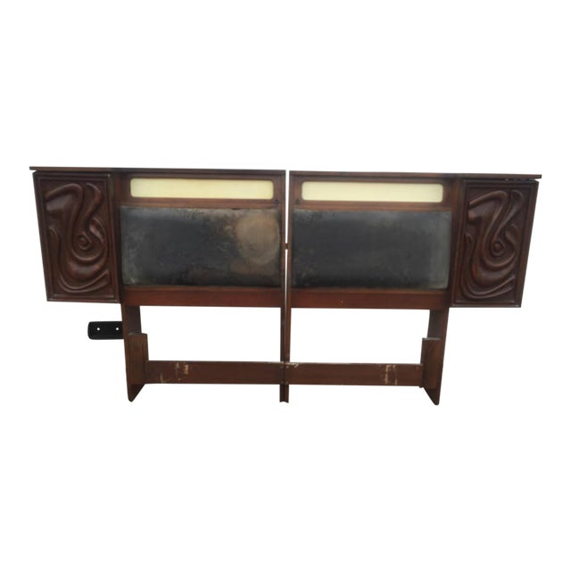 Witco Mid -Century King Size Headboard - Image 1 of 6