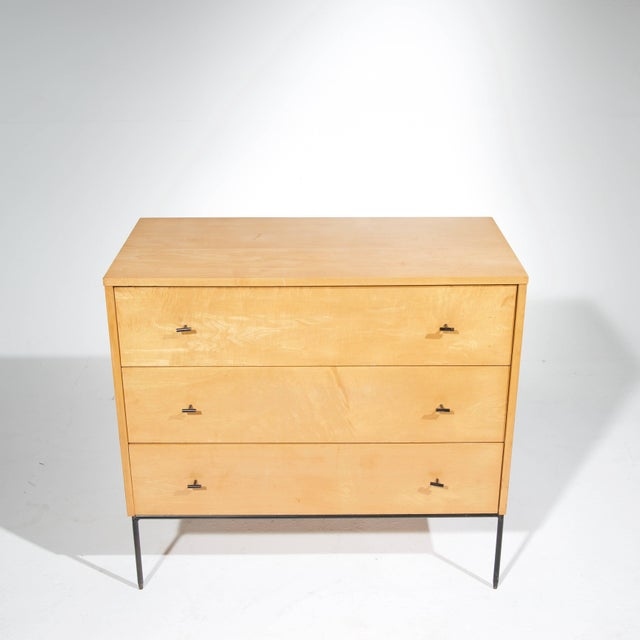 Wood Three-Drawer Dresser by Paul McCobb for Planner Group in Natural Maple For Sale - Image 7 of 11