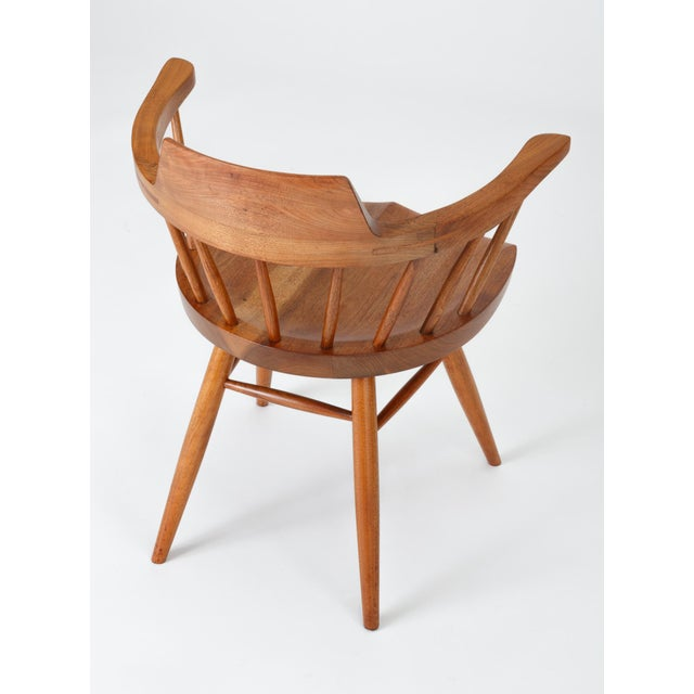 Single Black Walnut Captain's Chair by George Nakashima Studio For Sale - Image 12 of 13