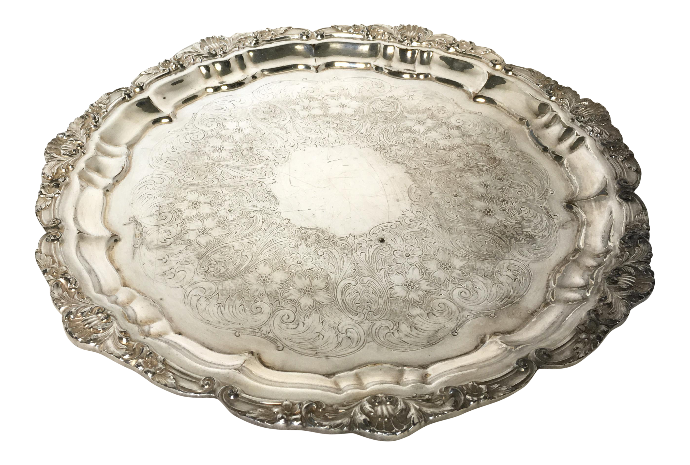 Poole Vintage Silver Plated Tray  sc 1 st  Chairish & Poole Vintage Silver Plated Tray   Chairish