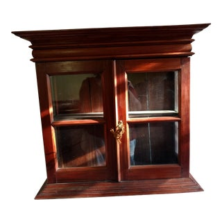 1920s Hand Carved Rosewood Table Top Cabinet For Sale