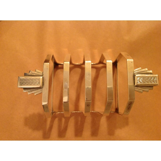 Art Deco Sterling Silver Mappin and Webb Toast Rack For Sale In New York - Image 6 of 7