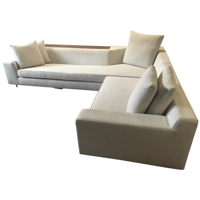 Vioski Shea Sectional With Walnut Console - Image 1 of 13