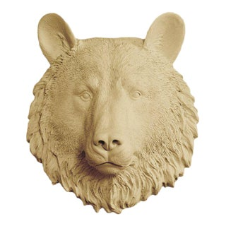 Wall Charmers Faux Khaki Mini Bear Head Wall Sculpture