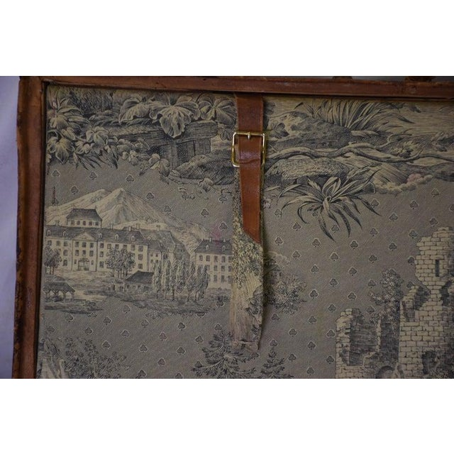 Chestnut Antique Travel Dome Trunk For Sale - Image 8 of 13