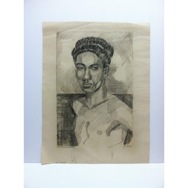 1953 Vintage Black Woman Nude Tom Sturges Jr. Drawing