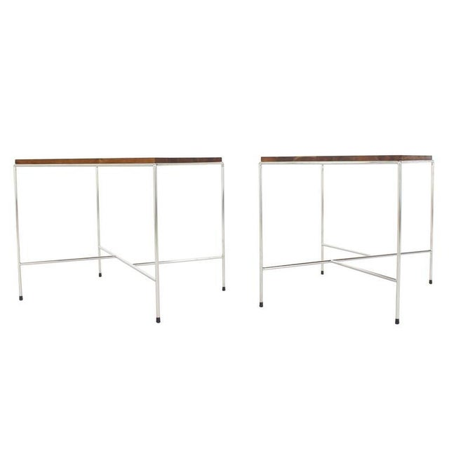 Mid-Century Modern Z-Base Occasional Tables - a Pair For Sale - Image 11 of 11