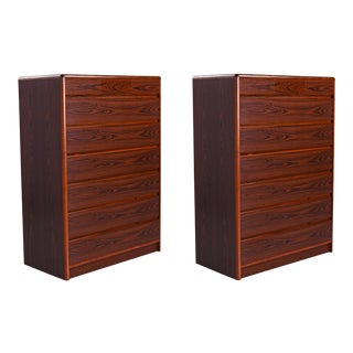 Nordisk Andels-Eksport Danish Rosewood Highboy Dresser Chest of Drawers For Sale