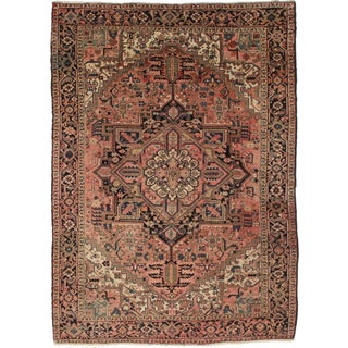"Rugsindallas Persian Heriz Rug - 7'6"" X 10' 6"" For Sale"
