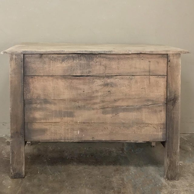 18th Century Country French Stripped Oak Provincial Commode For Sale - Image 10 of 13