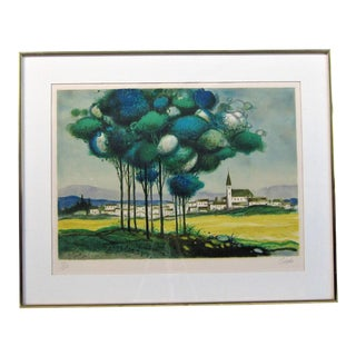 Signed and Numbered Limited Edition Landscape Print For Sale