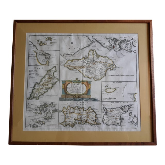 """Antique Map """"The Smaller Islands of Great Britain"""" by Rob Morden For Sale"""