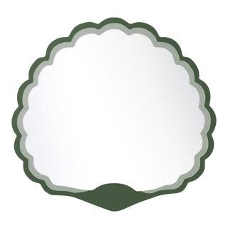 Fleur Home x Chairish Carnival Proteus Mirror in Duck Green, 36x33 For Sale