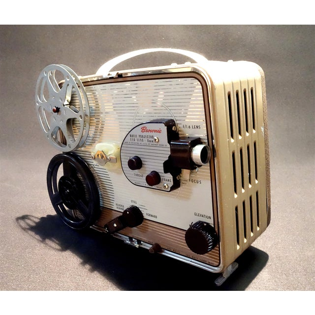 Metal Eastman Kodak Company Circa 1950s, 8mm Movie Projector. Gorgeous for Home or Office Display. For Sale - Image 7 of 7