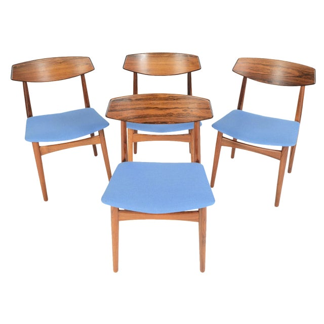 Danish Modern Rosewood Dining Chairs - Set of 4 - Image 1 of 11
