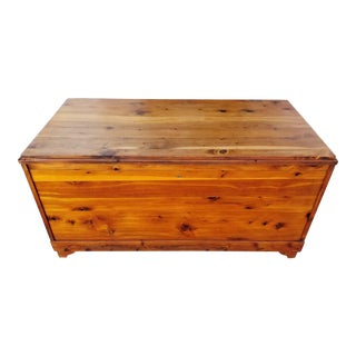 Solid Cedar Trunk / Blanket Chest For Sale