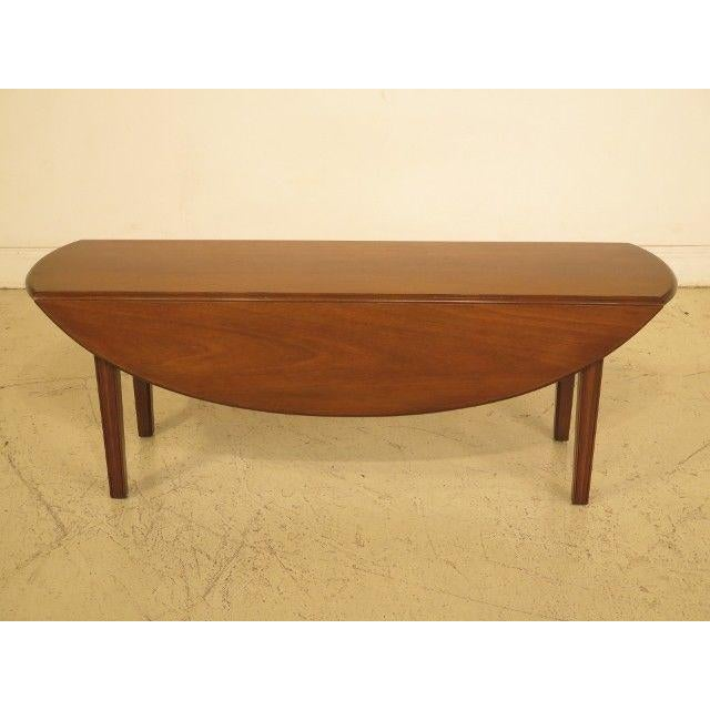 1960s Traditional Kittinger Drop Leaf Mahogany Coffee Table For Sale - Image 12 of 12