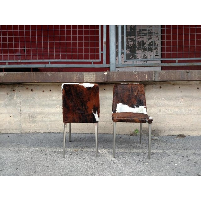 Gambrell Renard Cowhide Chairs - A Pair - Image 3 of 4