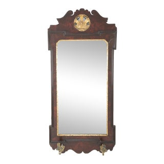 George II Walnut Sconce Mirror For Sale