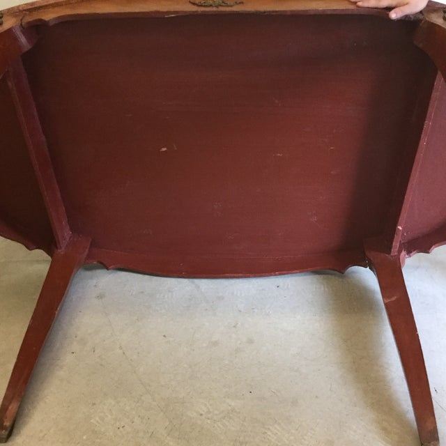 French Inlaid Ormolu Dining Table Desk For Sale - Image 10 of 13