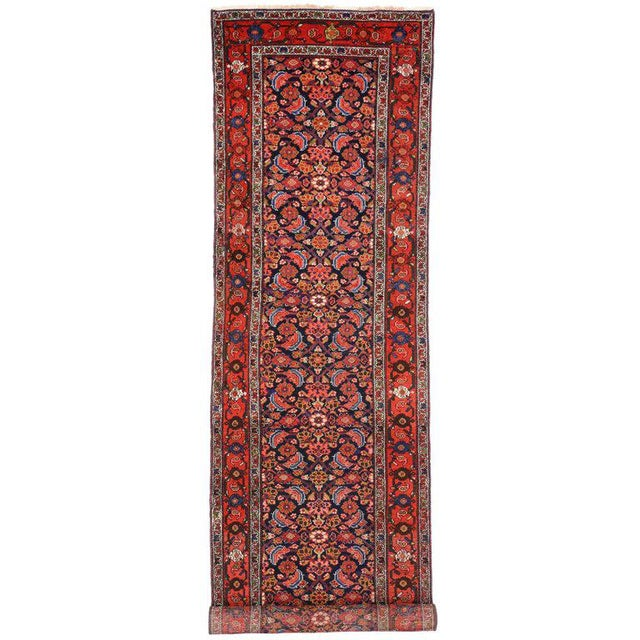 Antique Persian Malayer Runner with Modern Style For Sale - Image 9 of 9