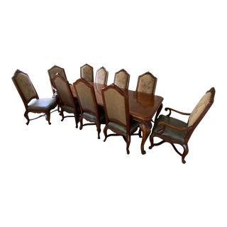 Henredon Dining Room Table & Chairs Dining Set For Sale