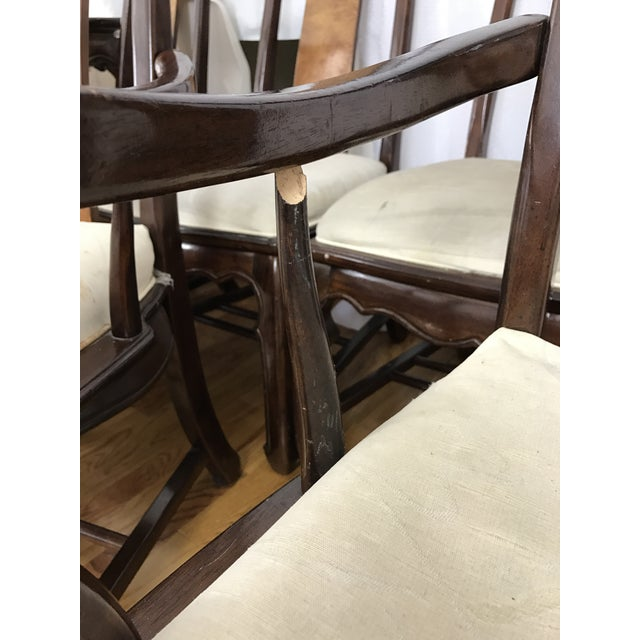 Chinese Chippendale Style Dining Table & Six Chairs- 7 Pieces - Image 8 of 11