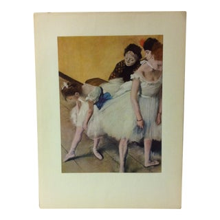 "Mounted Color Print on Paper, ""The Dancing Class"" - Circa 1950 For Sale"