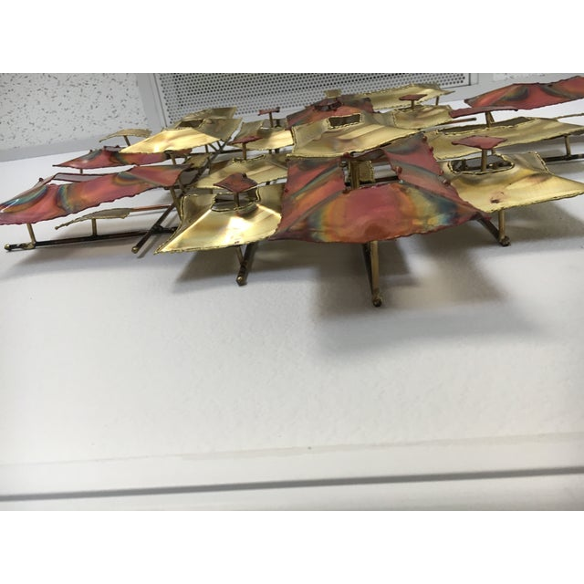 20th Century Brutalist Brass and Copper Wall Sculpture For Sale In Tampa - Image 6 of 10