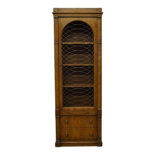 1960s Drexel Consulate Collection Curio Display Cabinet For Sale