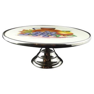 Belgian Decorated Cake Stand For Sale