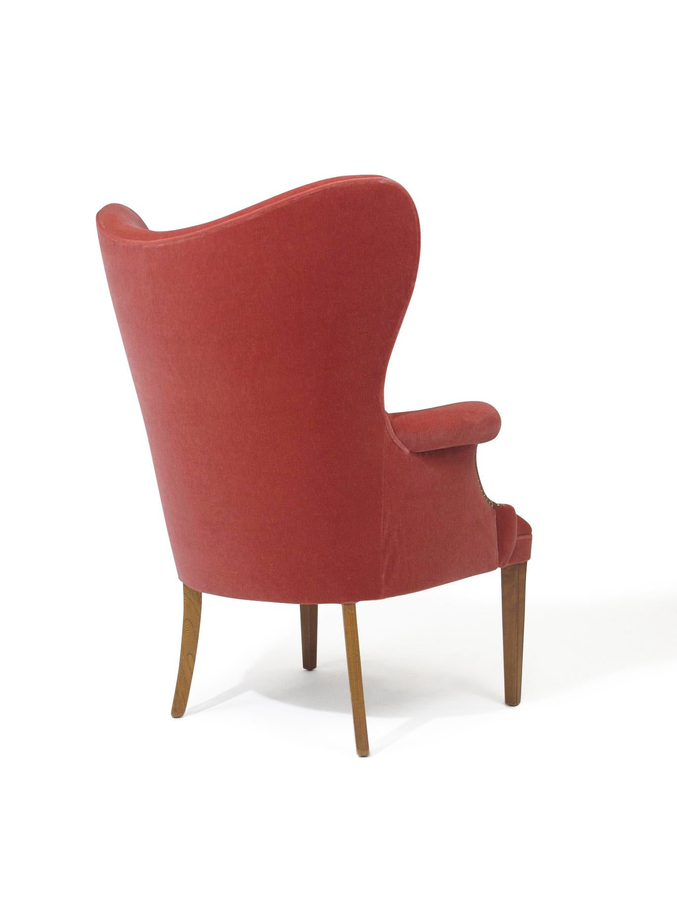 Wonderful Hollywood Regency Pink Mohair Lounge Chairs   Image 5 Of 7