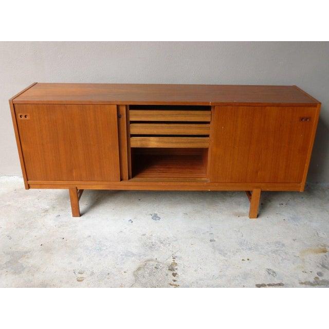 1950s Mid Century Modern Danish Koford Larsen Teak & Rosewood Credenza For Sale - Image 10 of 13