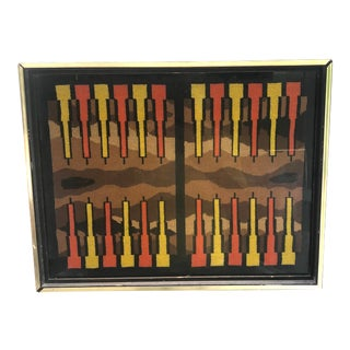 1970s Needlepoint Backgammon Set Picture For Sale