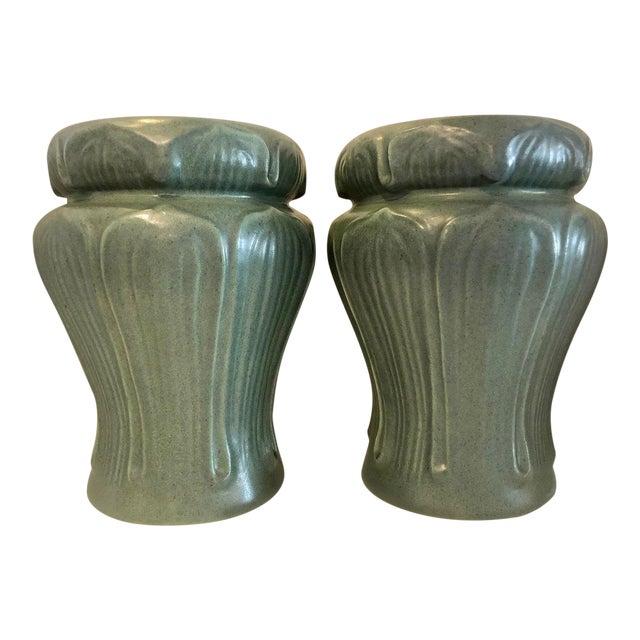 Pair Art Nouveau Style Vases by Haeger For Sale